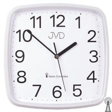 JVD RH616.1 Wanduhr Funk Funkwanduhr analog weiß viereckig