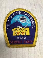 17th WORLD JAMBOREE MONDIAL  1991 KOREA SERVICE STAFF JACKET PATCH MINT RARE