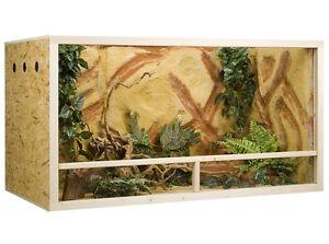 Holz Terrarium 150 x 60 x 80 cm OSB Platte, Seitenbelüftung (L x T x H)