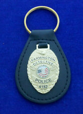 The SHIELD Police Badge Leather Key Ring #1