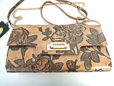 C. FIORENTINA Bag Clutch in beige brown real leather Hand-made in Italy 490$