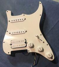 Fender HSS Loaded Pickguard USA Electronics (3 Ply / White) Awesome!