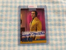"""STAR TREK RICARDO MONTALBAN """"SPACE SEED""""  AUTOGRAPHED TRADING CARD A17"""