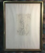 """Pierre Bonnard 1900's Etching Entitled """"Jeune Fille Lisant"""" w/ COA 11"""" x 14"""""""