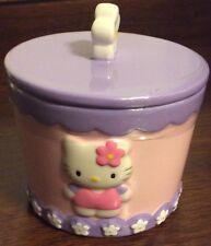 Hello Kitty Covered Jar Ceramic New