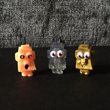 Moshi Monsters Ultra Rare ROCKY #28 Figures x 3 Halloween, Gold, Glitter