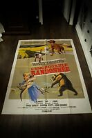 THE INCREDIBLE JOURNEY Walt Disney 4x6 ft Vintage French Grande Poster 1963