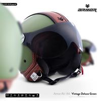 AV-84 Vintage D.G Motorcycle JET-Helmet Leather Moto VESPA ECE XS S M L XL XXL