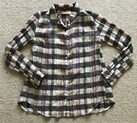 Anthropologie Isabella Sinclair Altay Button down Plaid Shirt Top X Small-Lace