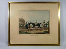 LITHOGRAPHIE ANCIENNE, encadrée, Carle Vernet, Préparatifs d'une course,chevaux