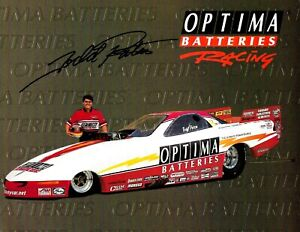 "TODD PATON Signed OPTIMA BATTERIES NHRA Autograph FUNNY CAR Promo PHOTO 12""x8"""