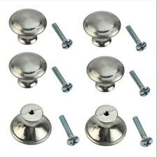 10 pcs Knobs Cabinet Knobs Drawer Handles Kitchen Cupboard Round Stainless Steel