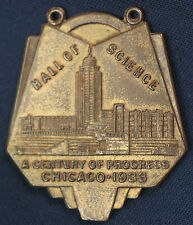 1933 Chicago World's Fair A Century of Progress Hall of Science Medal