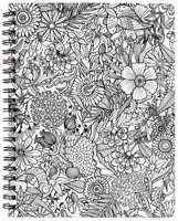 "American Crafts Adult Coloring Books 8.5 x 11"" Sketchbook Floral 80 Sheets"