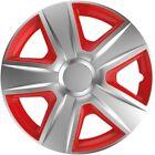 """Radkappen Radzierblenden Wheel Cover Esprit Red/Silver 16"""" Zoll 4-teilig von TN"""