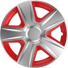 """Radkappen Radzierblenden Wheel Cover Esprit Red/Silver 13"""" Zoll 4-teilig von TN"""