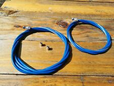 Old school BMX Blue smooth cable set for Raleigh Burner Bomber