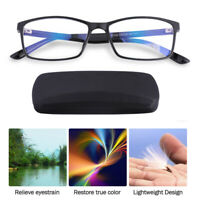 Computer Reading Glasses Anti-Glare Eye Strain Blue Light UV Blocking Protection