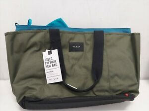 Pottery Barn Kids, State Bags Wellington Tote Bag, Olive Green/Teal NEW RRP$255