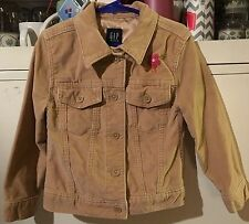 Girl's tan GAP Kids jacket size xs (4-5)