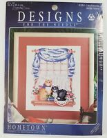 CAT FRIENDS - Hometown - Designs for the Needle Counted Cross Stitch Kit - NEW