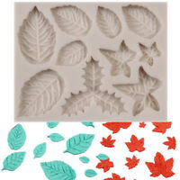 Silicone Leaf Fondant Mould Icing Cake Decorating Chocolate Mold Sugarcraft DIY