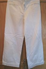 Auth Marc Jacobs Cropped Pants• Size 8 Ivory Cotton • Lined • EUC • $498 • LUXE!