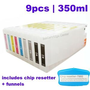 AUS Original Epson Stylus Pro 7800 / 9800 350ml Refilling Cartridge, 9 pcs /set