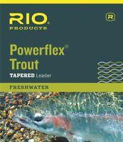 Rio 3-Pack Powerflex Truite 9/' Pi 3X 8.2 LB environ 3.72 kg Eau Douce Nylon Pêche à la mouche les dirigeants