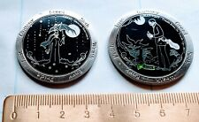 Pair of geocoins - Seven Caching Sins - Greed & Gluttony