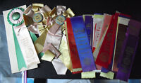 Lot of 50 Vintage 1950 - 1960s AKC Boxer Club Dog Award Winner Ribbons
