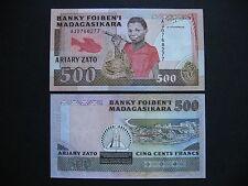 MADAGASCAR  500 Francs 1988 - 93  (P71b)  UNC
