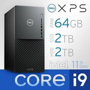 Dell XPS 8940, 8-Core Intel i9-11900, 64GB RAM, 2TB SSD + 2TB HD, Win 10 Pro