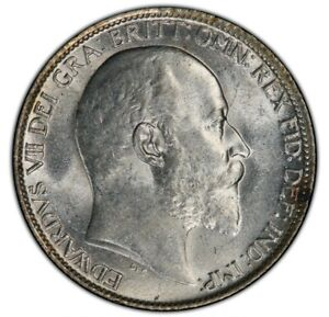 Great Britain 1907 6 Pence PCGS MS 64, Edward VII, Blazing White Coin !