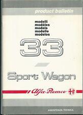 1990 ALFA ROMEO 33 - 33 Sport Wagon Product Bulletin