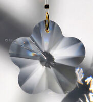 28mm Daisy Flower Austrian Crystal Clear Prism Pendant SunCatcher over 1""
