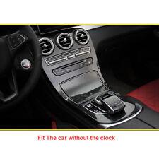 Carbon Black ABS Center Console Panel Cover Trim For Benz C Class 2015-2017 W205
