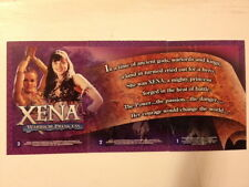 Xena Warrior Princess - Season 6 base set of 72 trading cards