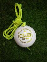 White Cricket Hanging Ball for Practice and Bat Knocking with 7ft Approx Rope UK