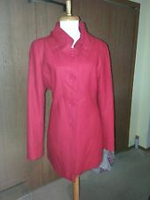 New York and Company Classic Red Wool Blend Coat Sz 12