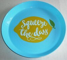 """TROPICAL Round Serving Tray SQUEEZE THE DAY  14"""" Dia."""