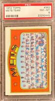 1972 Topps #362 Mets Team Card! PSA 8! Awesome Card. Wow!