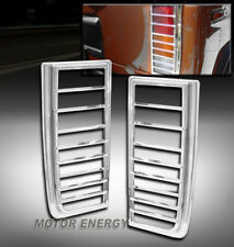 03-09 HUMMER H2 SUV TAIL LIGHT LAMP COVERS TRIM GUARD ABS CHROME LEFT+RIGHT PAIR