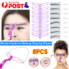 8Pcs Women Makeup Shaping Shaper Eyebrow Grooming Stencil Kit Template DIY