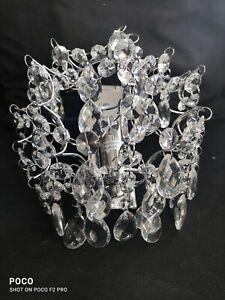 Modern Hedingham Crystal  Wall Light Aisle/Bedside, Polished Chrome , Schreiber