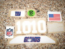 New York Giants 20 mil 3M vinyl full size football helmet decals