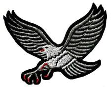 Gray Grey Hawk Eagle Motorcycles Biker Embroidered Iron on Patch Free Shipping