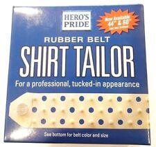 "Shirt Stay Belt White Hidden Flex Belt Shirt Holder Shirt Stays Hero's Pride 44"""