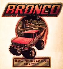 Vtg 70s 80s Ford Bronco Xlt Ranger 4x4 Lifted Pick Up Suv Truck t-Shirt Iron-On