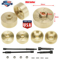 For Axial SCX24 90081 1:24 RC Car 6mm Widen Axle Wheel Hub Brass Counterweights
